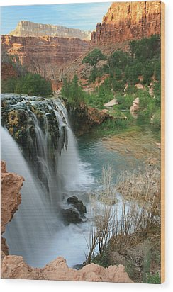 Late Afternoon At Little Navajo Falls  Wood Print