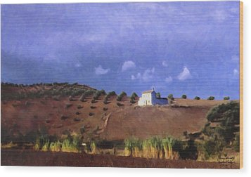 Late Afternoon Cordoba Wood Print