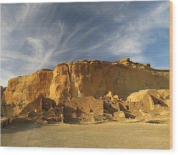 Late Afternoon In Pueblo Bonito Wood Print by Feva  Fotos