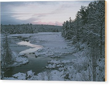 Wood Print featuring the photograph Late Afternoon In Winter by David Porteus