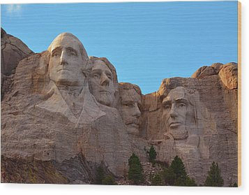 Late Afternoon, Mount Rushmore National Wood Print