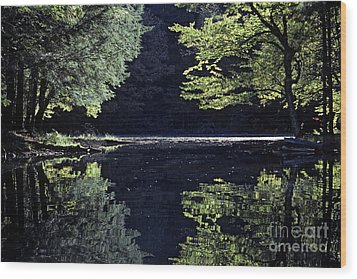 Late Afternoon Reflection Wood Print by Kevin McCarthy