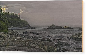 Wood Print featuring the photograph Late Afternoon Sun On West Quoddy Head Lighthouse by Marty Saccone
