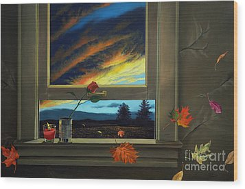 Late Autumn Breeze By Christopher Shellhammer Wood Print by Christopher Shellhammer