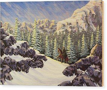 Late Crossing Wood Print