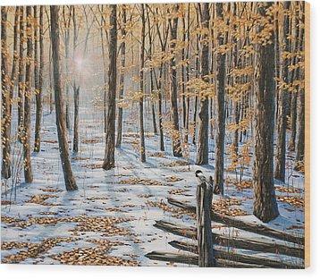 Late Fall Early Winter Wood Print
