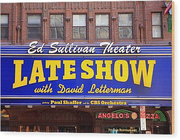 Late Show New York Wood Print