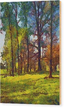 Late Spring Trees Wood Print