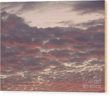 Late Summer Evening Sky Wood Print