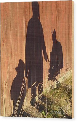 Wood Print featuring the photograph Late Summer Walk by Martin Howard