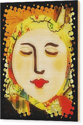 Wood Print featuring the digital art Late Summer Woman by Alexis Rotella