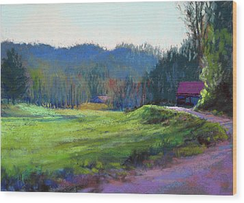 Late Valley Light Wood Print by Marsha Savage