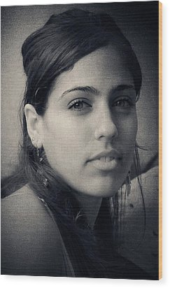 Wood Print featuring the photograph Latina Beauty by Zinvolle Art