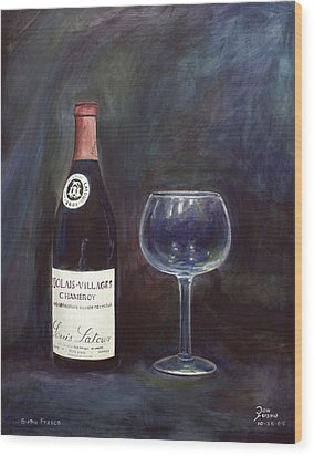 Latour Wine Buon Fresco 3 Primary Pigments Wood Print by Don Jusko
