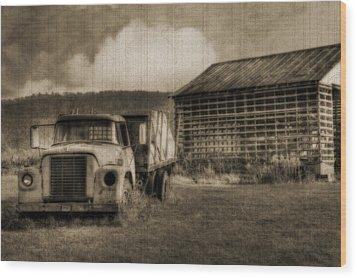 Latsha Lumber Company Wood Print by Shelley Neff