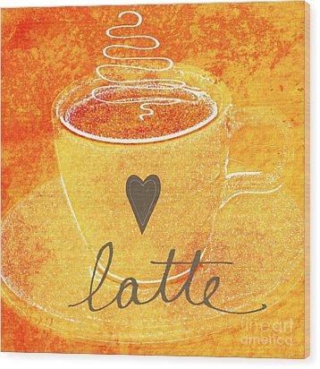Latte Wood Print by Linda Woods