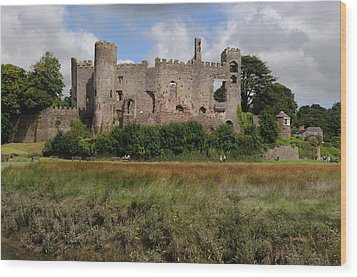 Laugharne Castle Wood Print