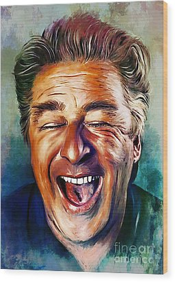 Laughter Is The Best Medicine Wood Print by Andrzej Szczerski