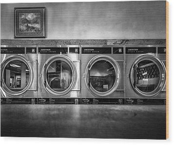 Laundromat Art Wood Print by Bob Orsillo