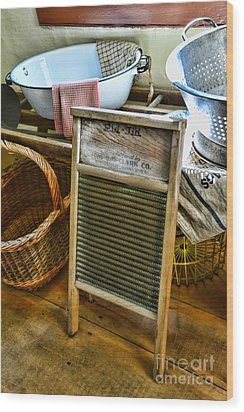 Laundry Day Wood Print by Paul Ward