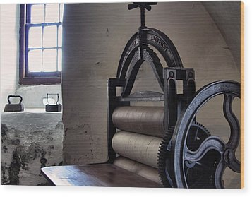 Laundry Press Wood Print