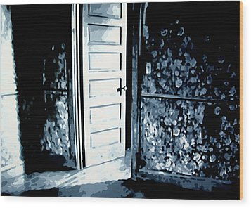 Lauras Painting Wood Print by Luis Ludzska