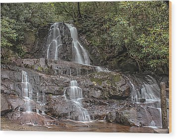 Laurel Falls - Great Smoky Mountains National Park Wood Print