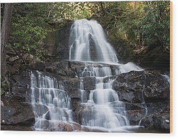 Wood Print featuring the photograph Laurel Falls by Jay Stockhaus