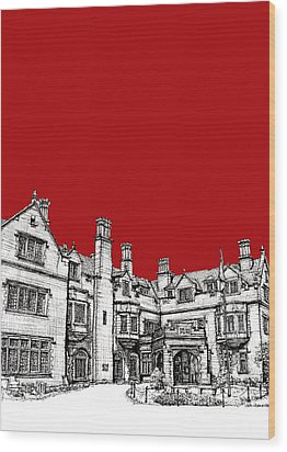 Laurel Hall In Red -portrait- Wood Print by Adendorff Design