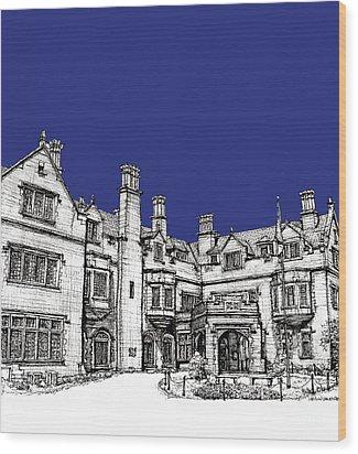 Laurel Hall In Royal Blue Wood Print by Adendorff Design