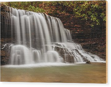 Laurel Run Falls Tn Wood Print
