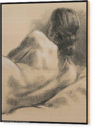 Lauren's Back Muscles Wood Print