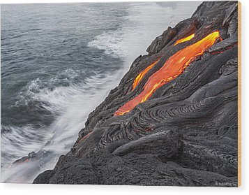 Lava Wood Print by Henryk Welle