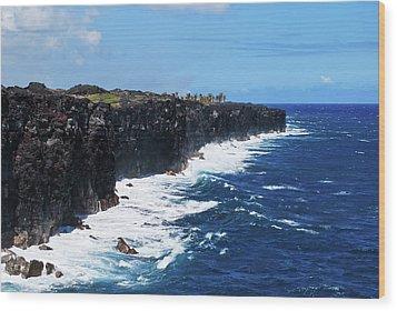 Lava Shore Wood Print