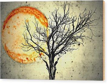 Lava Sky Wood Print