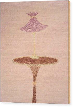 Lavendar Lamp Wood Print by Christine Corretti