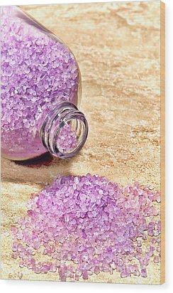 Lavender Bath Salts Wood Print by Olivier Le Queinec