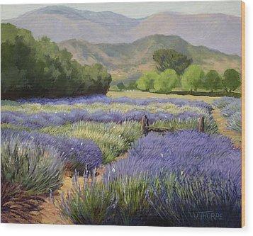 Lavender Blue Wood Print by Jane Thorpe
