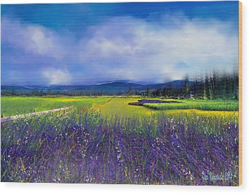 Lavender Blues Wood Print