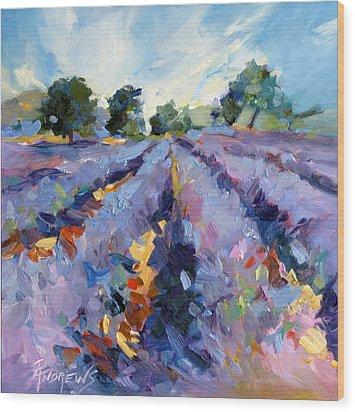 Lavender Blues Wood Print
