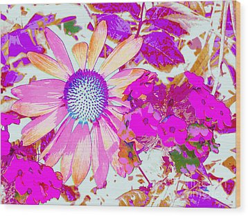 Lavender Echinacea Wood Print by Annie Zeno
