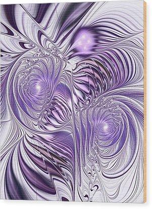 Lavender Elegance Wood Print by Anastasiya Malakhova