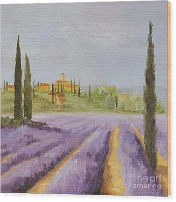Lavender Fields I Wood Print by Logan Gerlock