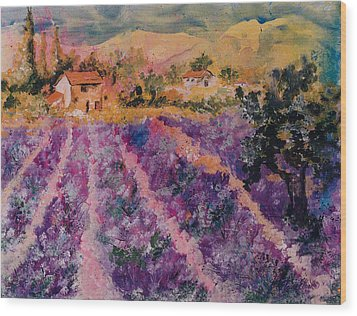 Lavender Fields In Provence Wood Print