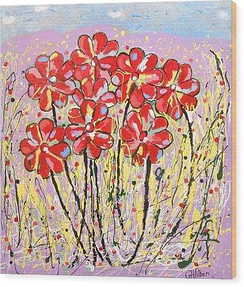 Lavender Flower Garden Wood Print