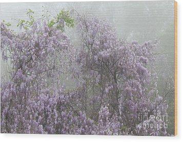Lavender Fog Wood Print by Leslie Kirk