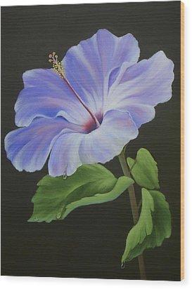 Lavender Hibiscus Wood Print