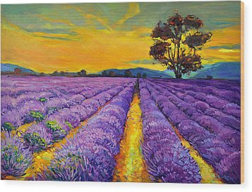 Lavender Wood Print by Ivailo Nikolov