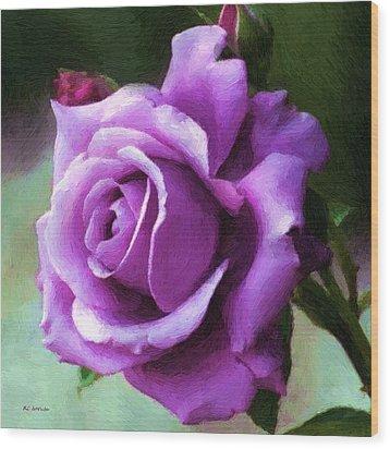 Lavender Lady Wood Print by RC deWinter