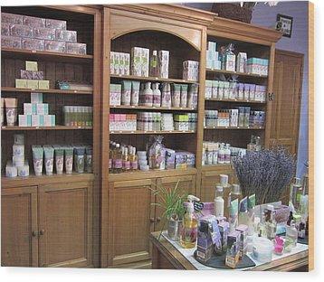 Lavender Museum Shop 1 Wood Print by Pema Hou